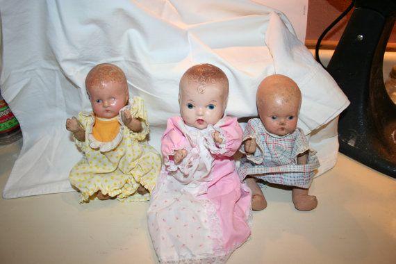 Set of Three Composition Dolls by TheTreasureHuntLLC on Etsy