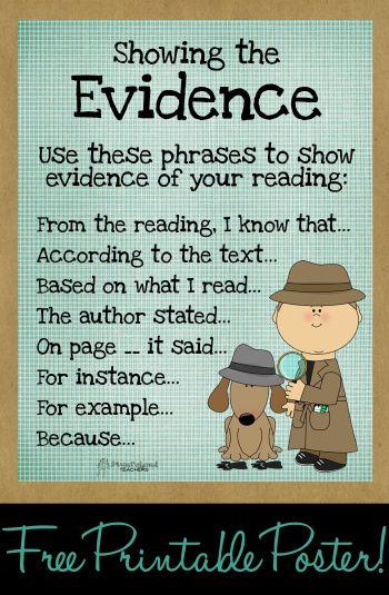 "Squarehead Teachers: ""Show the evidence"" poster! FREE printable 8.5"" x 11"""