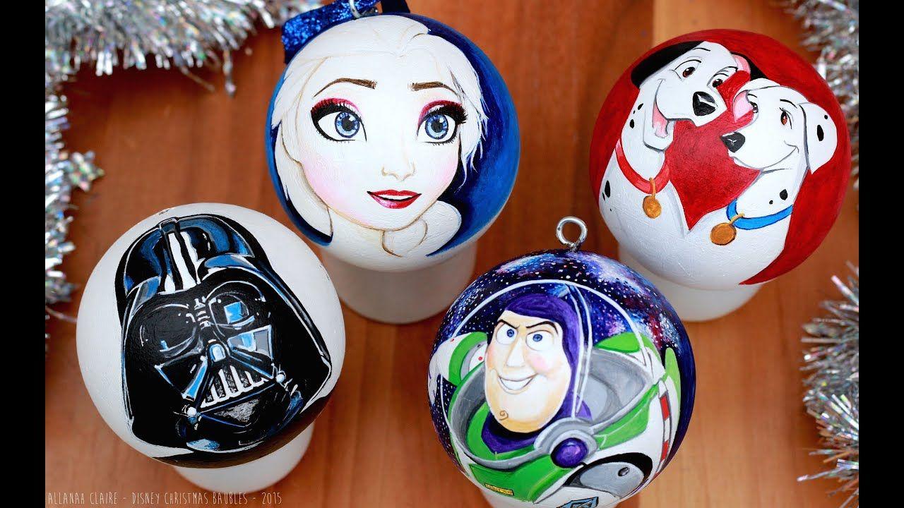 Diy Disney Christmas Decorations Cute Diy Ideas Ornaments Youtube Disney Christmas Decorations Disney Ornaments Diy Disney Diy
