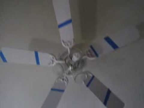 Putting Colored Tape On A Ceiling Fan To Create An Animated Spiral Ceiling Fan Makeover Ceiling Fan Painting Ceiling Fans