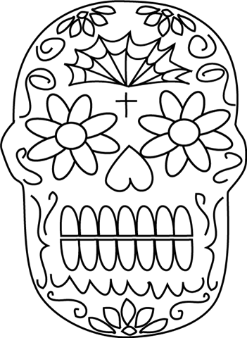 Dibujos Para Colorear Dia De Muertos Ii Dibujos Para Camisetas