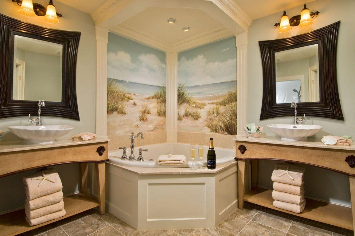 Marvelous Tan Nautical Themed Bathrooms Theme Modern Dark Brown