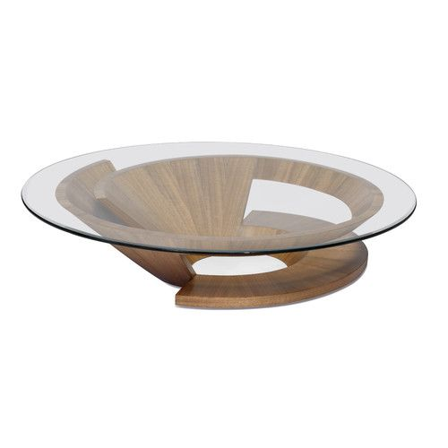 Nautilus Abstract Coffee Table Coffee Table Wood Round Wood