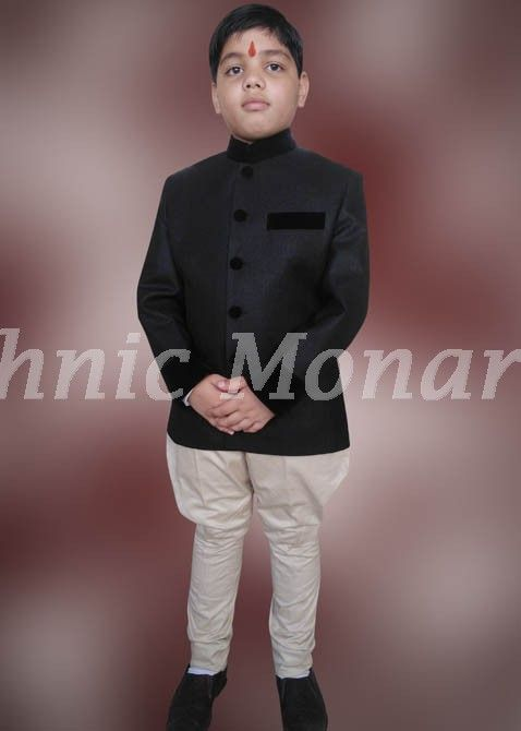 64e6b4b5d Black Jodhpuri Coat | Jodhpuri for Kids | Royal dresses, Dresses ...