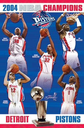 Detroit Pistons 2004 Nba Champions Detroit Pistons Detroit Basketball Pistons