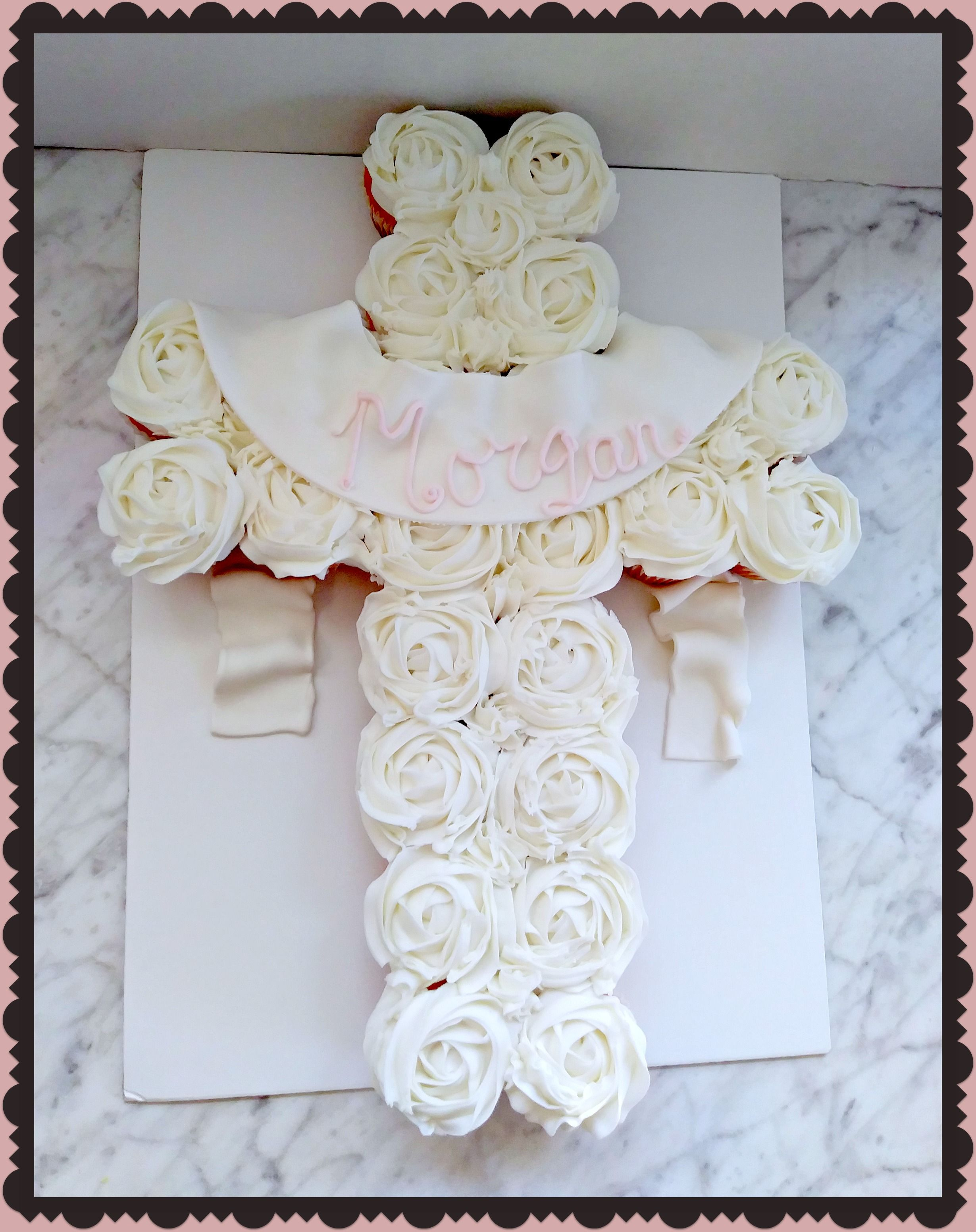 Dedication cupcake cross cakes in pinterest baby shower