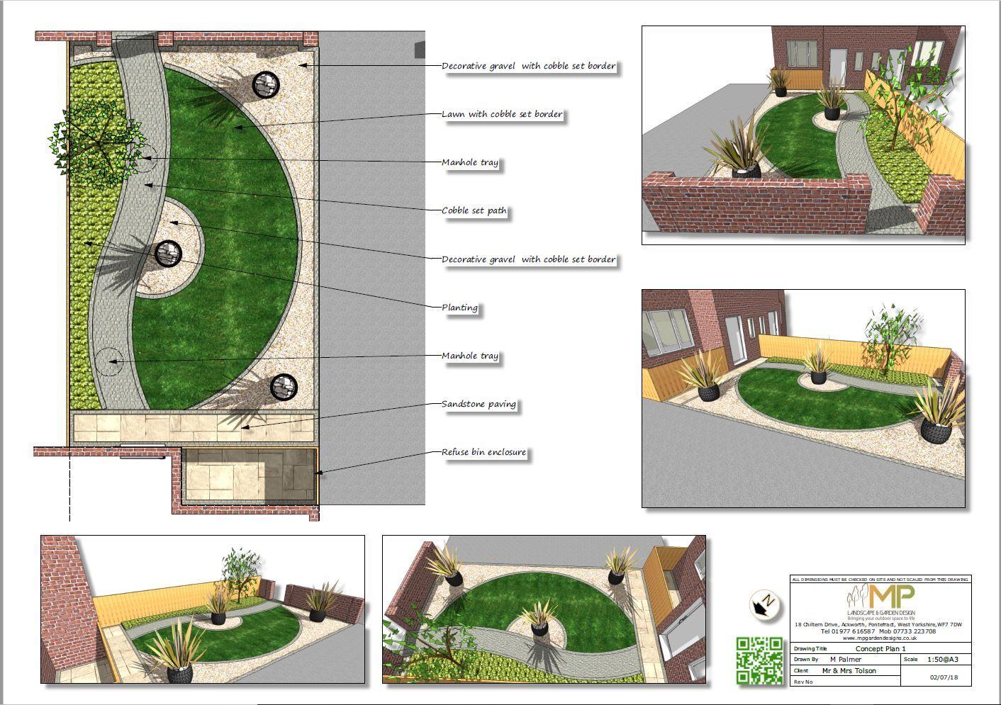 Garden Design For A Front Garden In Kippax Leeds Garden Landscapedesign Gardendesign La Landscape Design Plans Garden Design Layout Garden Planning Layout