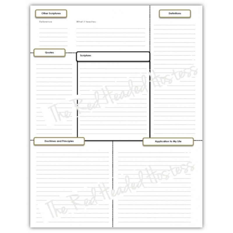 Template 2 - Single Scripture Verse Study Sheet (Boy Version - time study template