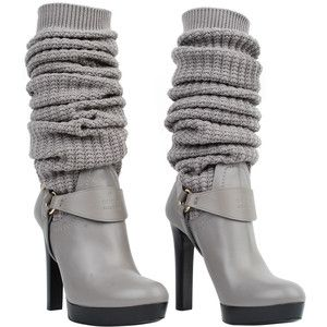 3ea6cf7032 Gucci leather grey boot with black platform | My Style | Gucci boots ...