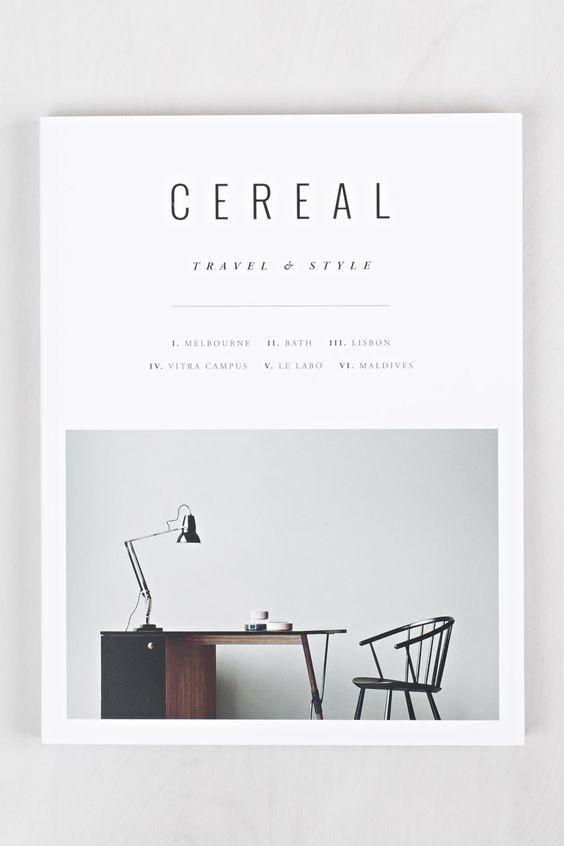 Cereal Magazine Cover Desain Sampul Buku Tata Ruang Majalah Desain Brosur