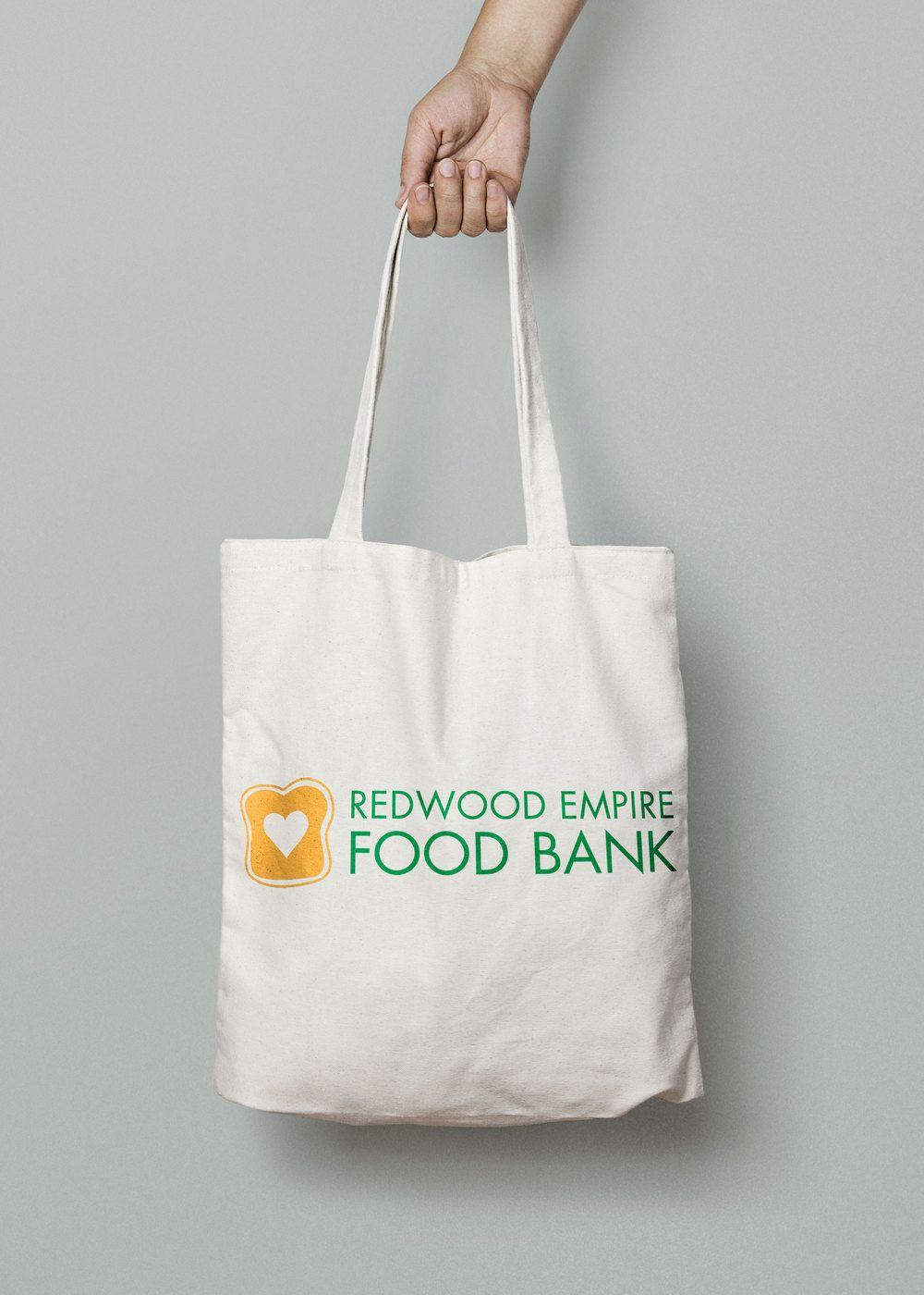 Redwood empire food bank rebrand city tote bag tote