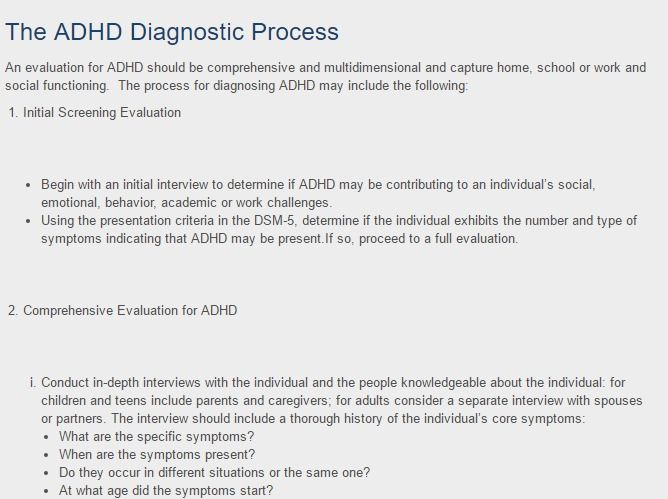 An Adhd Evaluation Should Be Comprehensive And Multidimensional