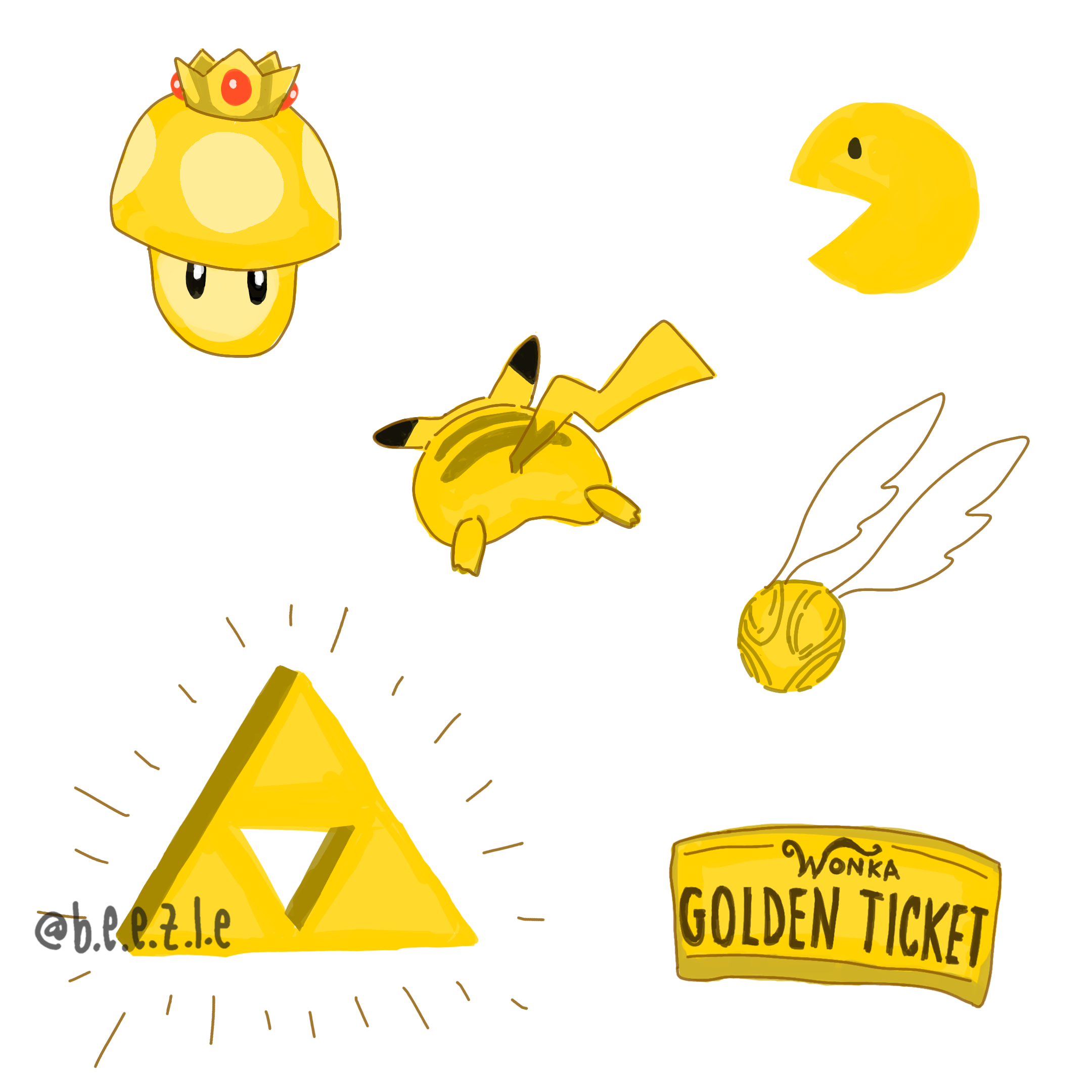 A bunch of golden things for todayus huevember adorableart pinterest