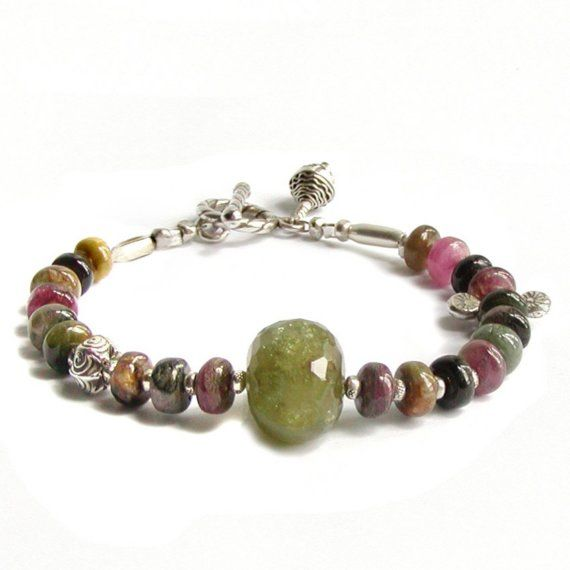RESERVED  Tourmaline Bracelet with Green by jQjewelrydesigns, $55.00