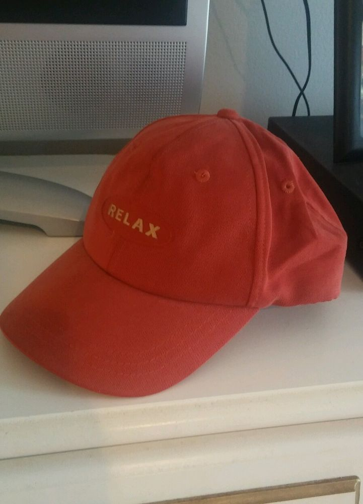 red relax embroidered baseball cap hat adjustable strap tommy bahama