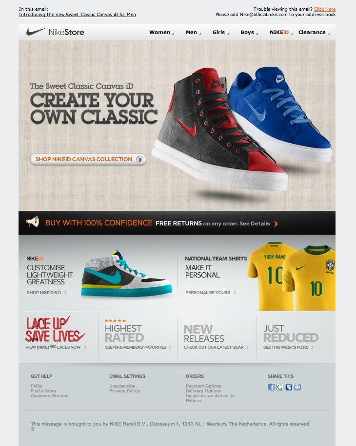 Arriba enero salami  Nike email design | Disenos de unas, Diseño web, E design