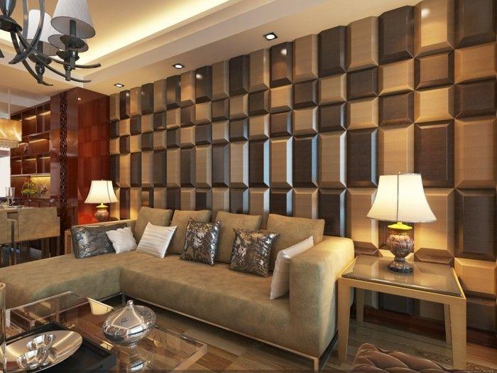 Wohnzimmer Paneele ~ Wandgestaltung ideen paneele im wohnzimmer die ihm einen schicken