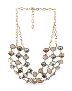 12k Gold Plated Necklace ST THOMAS 3999 TJ Maxx Bracelets