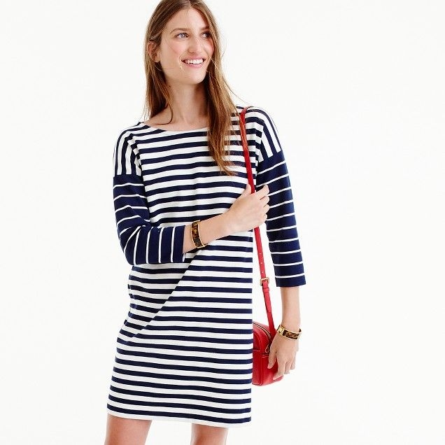 Colorblock stripe ponte dress :   | J.Crew