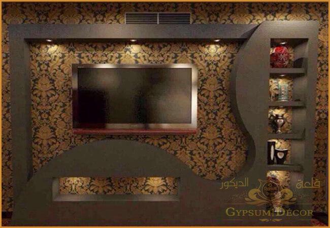 احدث مكتبات التلفزيون 2021 Tv Wall Design Wall Design Home Decor