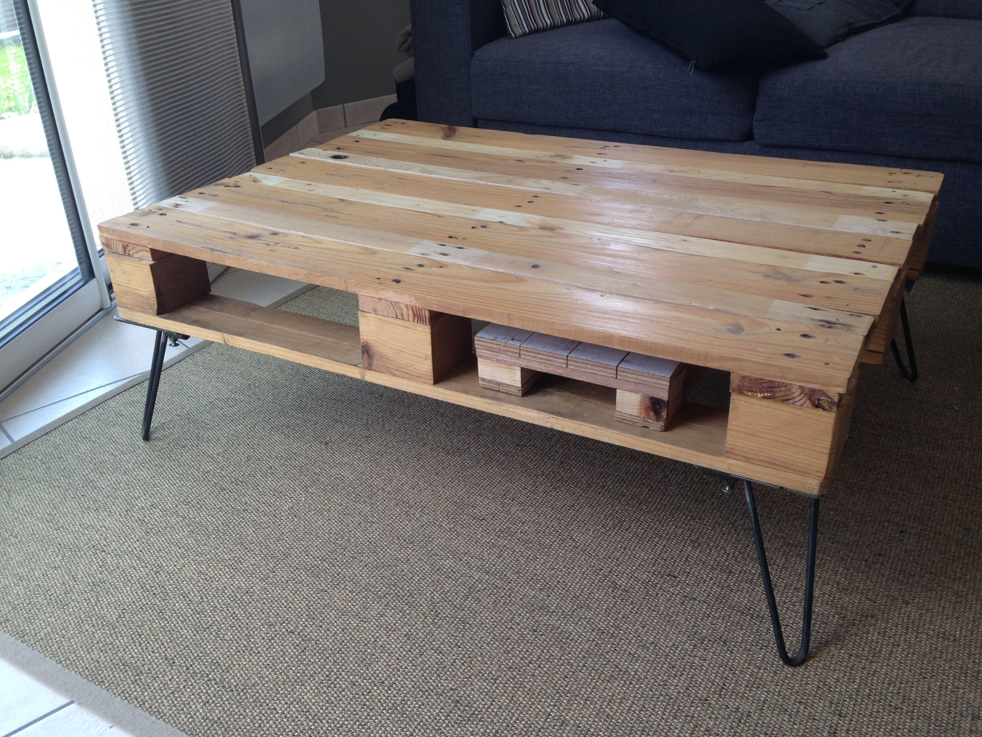 table basse palettes faitmaison