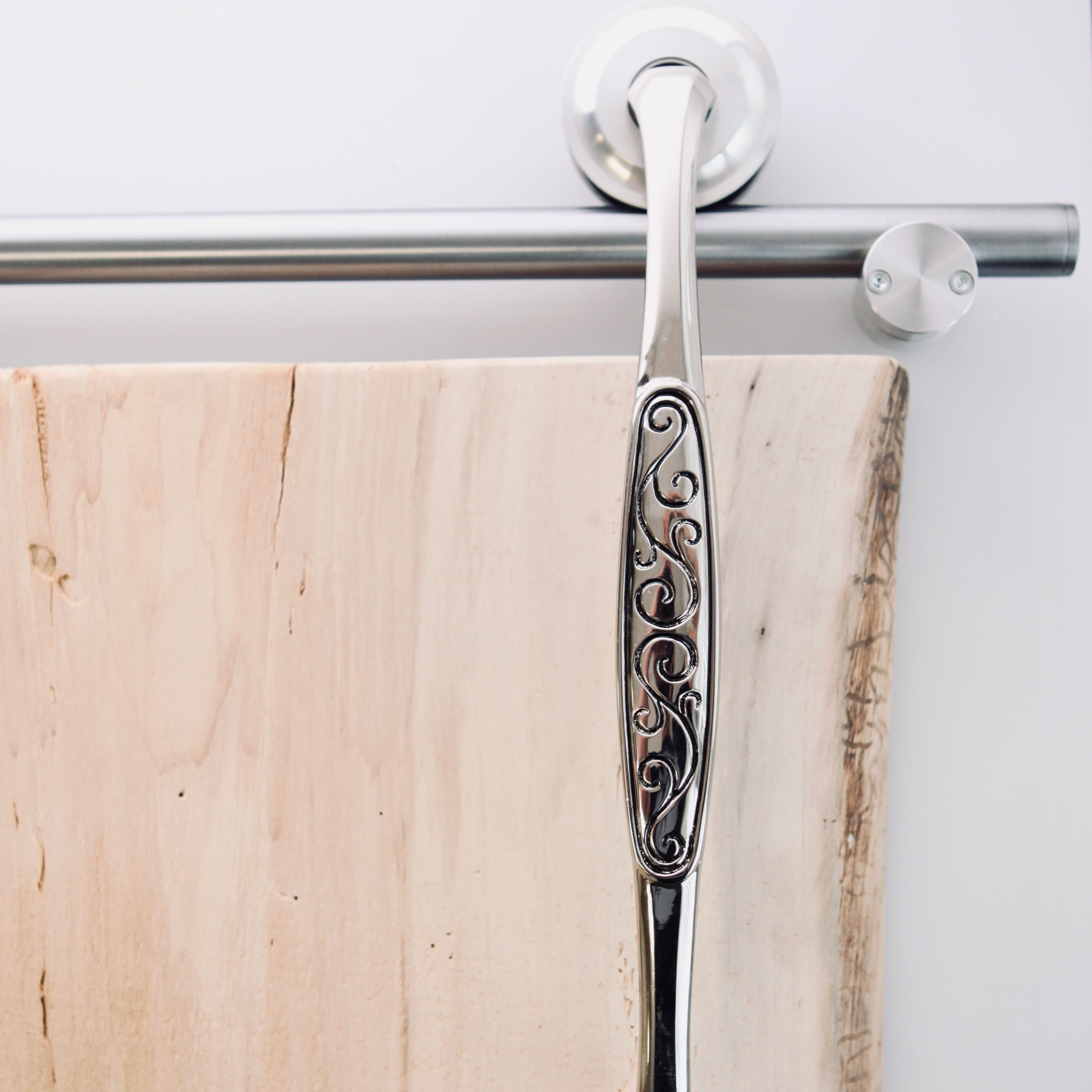 The Rustica Modern Barn Door Hardware Tube Track System Is -9727