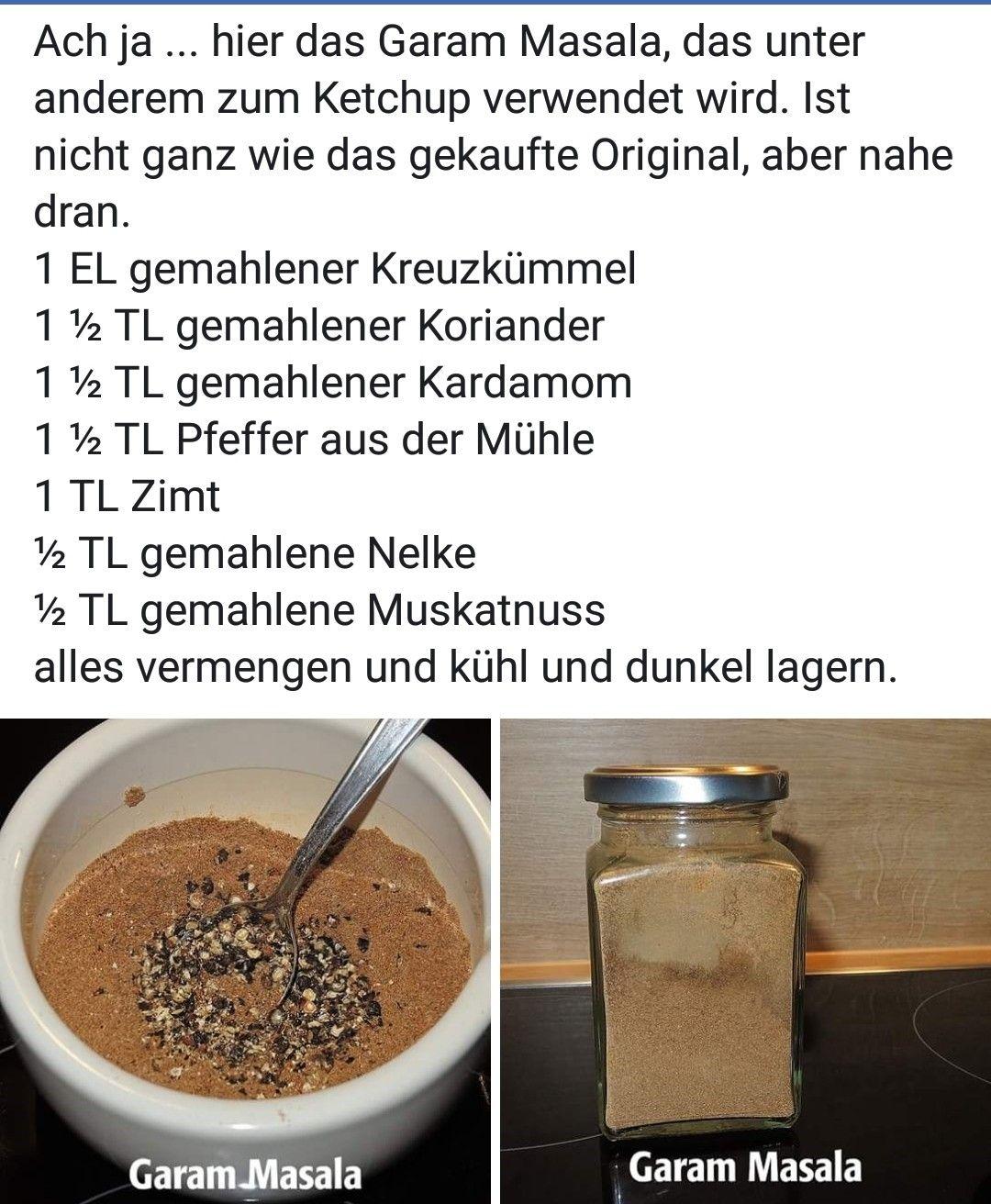 Pin Von Bettina Obermeier Auf Food Garam Masala Koriander Und Kardamom