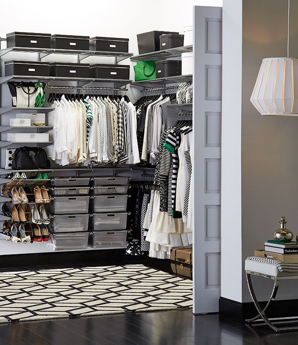 The Container Store Closet Systems Display Your Wardrobe Proudly With Elfa And The Container Store