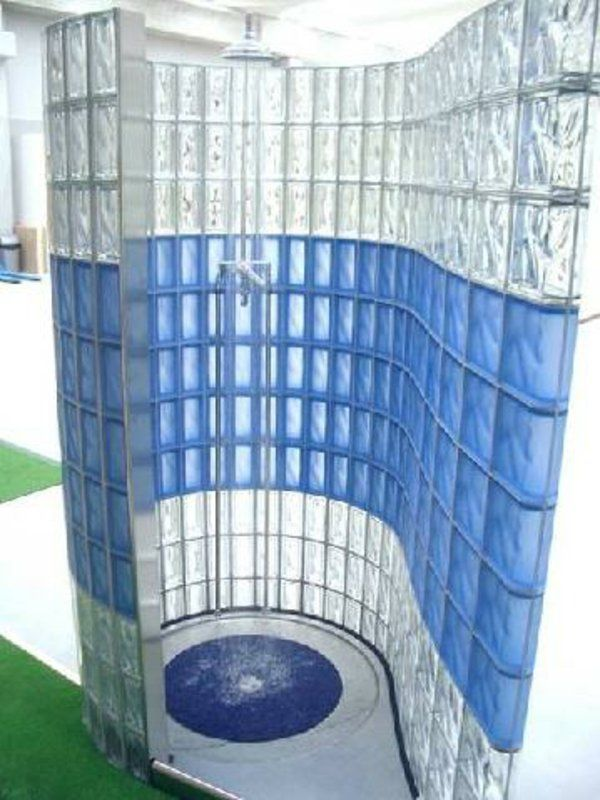 trennwand durchsichtige fliesen moderne dusche | Master Bath ... | {Glasbausteine dusche beispiele 33}