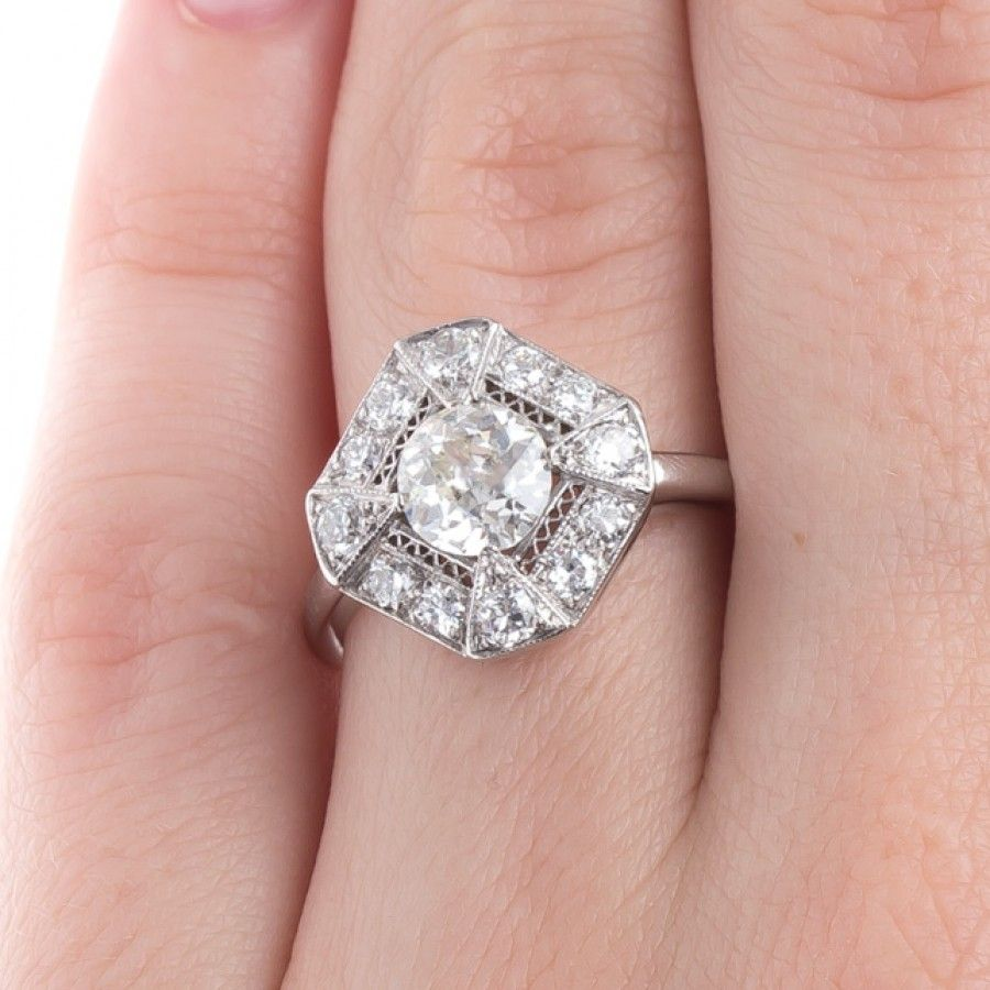 Striking and Unique Art Deco Engagement Ring | Whitcomb | engagement ...
