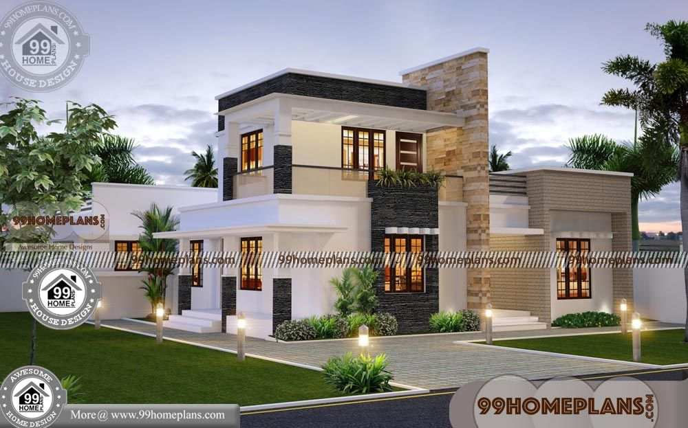 Contemporary House Plans With Flat Roof Hidup Hidup Sehat