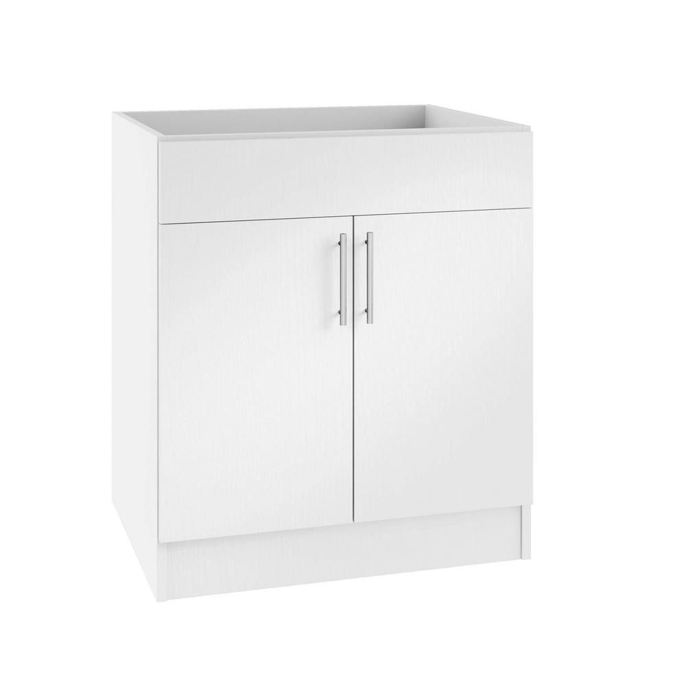 Weatherstrong Assembled 36x34 5x24 In Miami Island Sink Outdoor Kitchen Base Cabinet With 2 Doors In Radiant White Kitchen Base Cabinets Base Cabinets Sink In Island