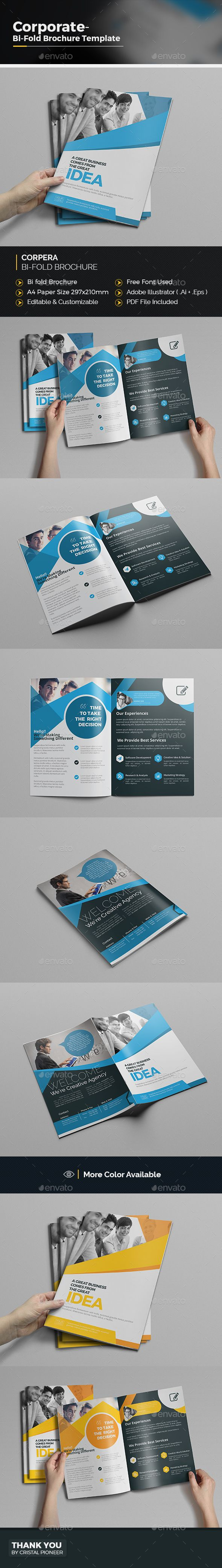 Bi fold business brochure business brochure ai for Bi fold brochure template illustrator