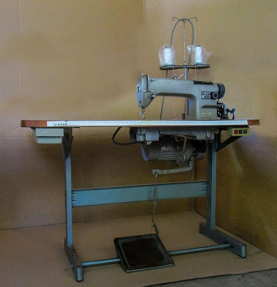 Consew 230 Light to mediumdutyindustrialsewing machine sews beautifully, quietly…