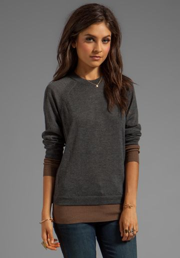 Marc by Marc Jacobs Constance Cashmere Pullover in Pale Limo Black Multi