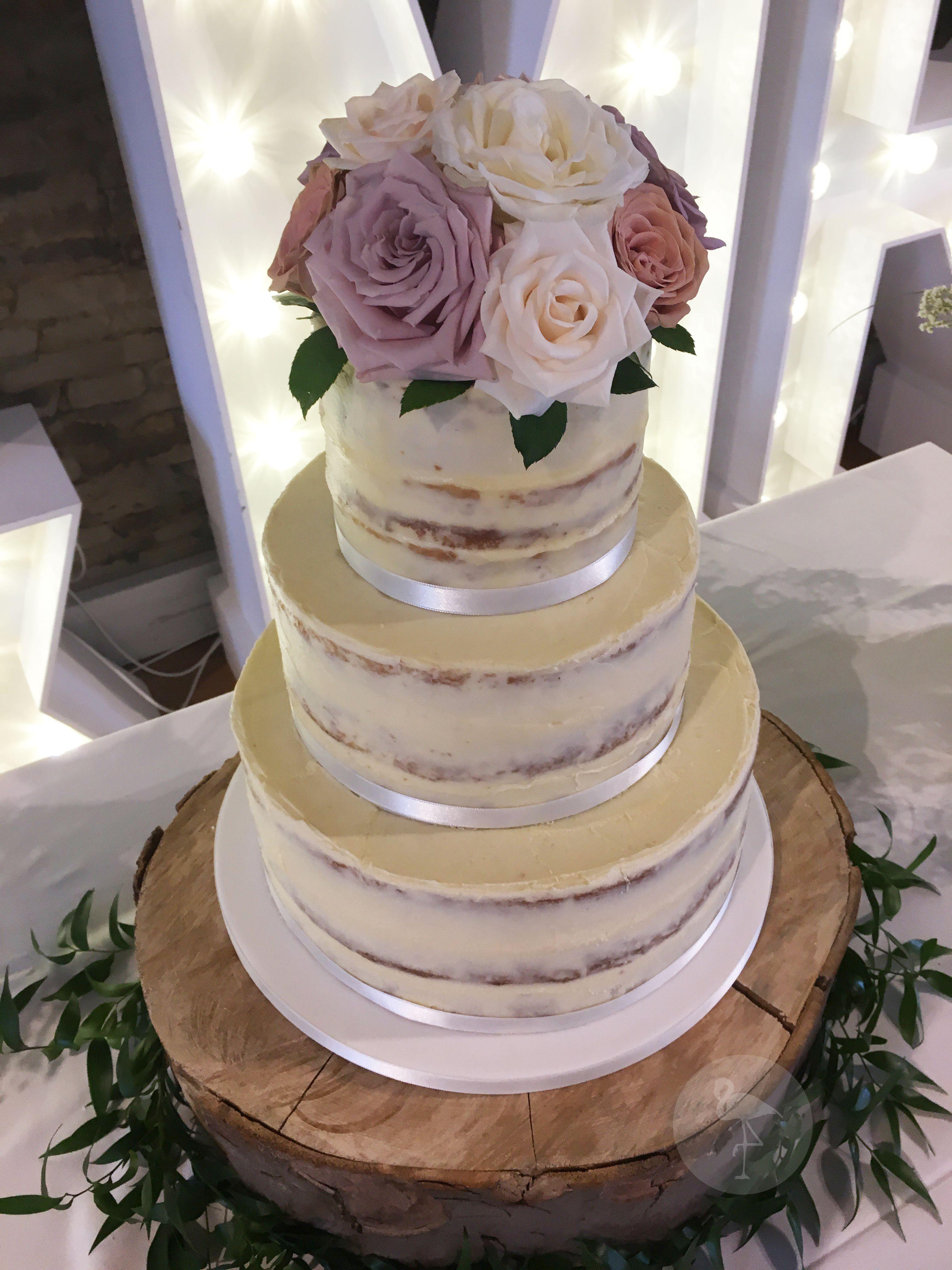Rustic Semi Naked Wedding Cake with fresh flowersRustic Semi Naked Wedding Cake with fresh flowers   Our Wedding  . Fresh Flower Wedding Cakes. Home Design Ideas