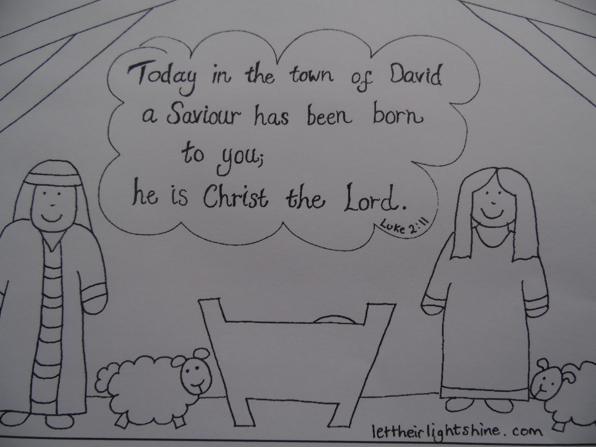 Luke 2 11 Colouring With A That Works