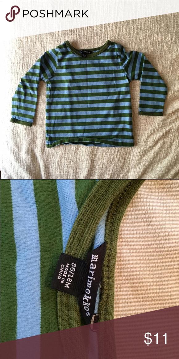 355e3be891 Marimekko blue and green long sleeves tshirt Long sleeves blue and green stripes  t-shirt.Size says 18 months Marimekko Shirts & Tops Tees - Long Sleeve