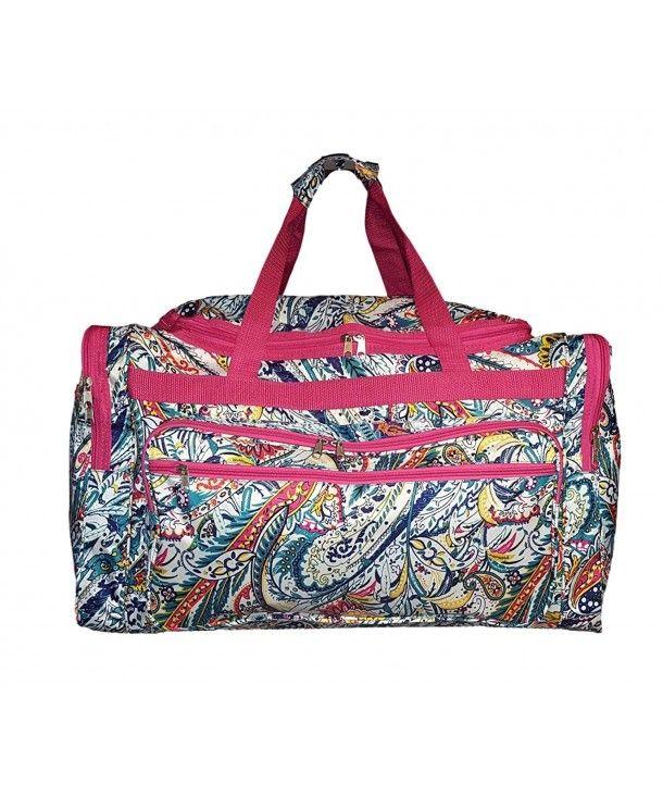 Dance Duffel Bag with Multicolored Dance Print
