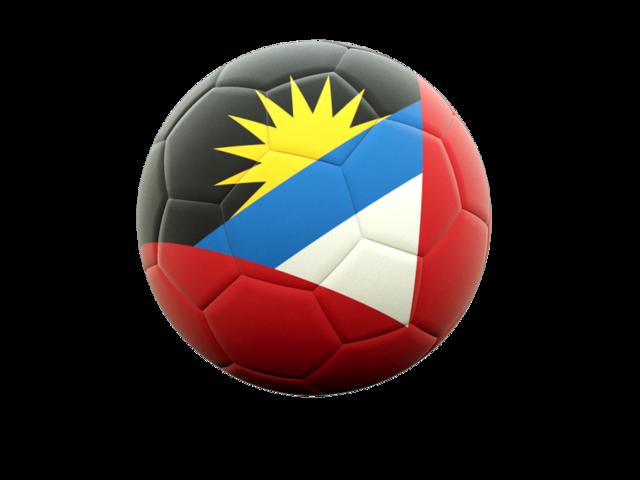 Football Icon Illustration Of Flag Of Antigua And Barbuda