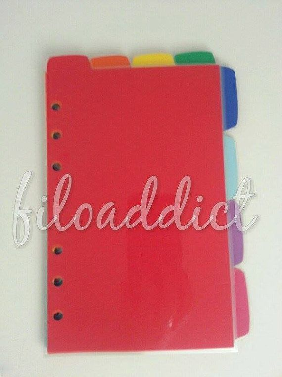 Rainbow Planner Dividers  Tabs  Filofax Arc Day Timer Or