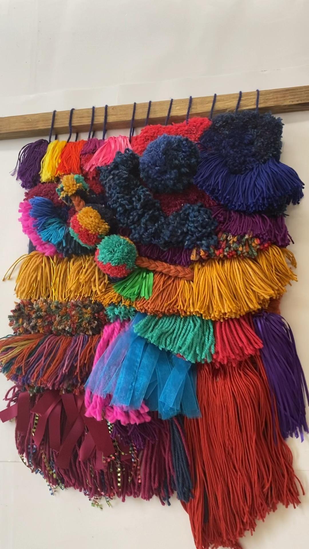 #weaving #walldecor #wallhanging #homedecor #sustainablehome #atlanta #handmade #colorblock #brightandbold #groovy #upcycle #yarn #macrame #weaversofinstagram #colouryourhome #wovenwallhanging #woven #acolorstory #yarn #textileartist #texture #wovenwednesday #wallartdecor #jeweltones #boho #fiesta #boldcolors
