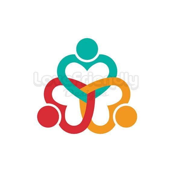 People Three Heart Persons Clip Art Concept For A Friendship