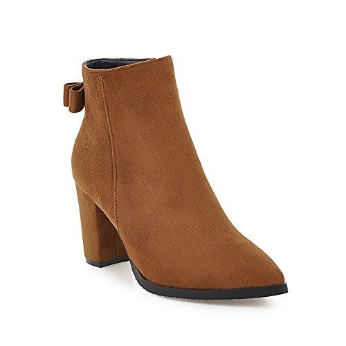 Motiau Zipper Winter Suede Velvet Ankle Booties Womens Boots Brown 5 DM US ** See this great product.(This is an Amazon affiliate link and I receive a commission for the sales)