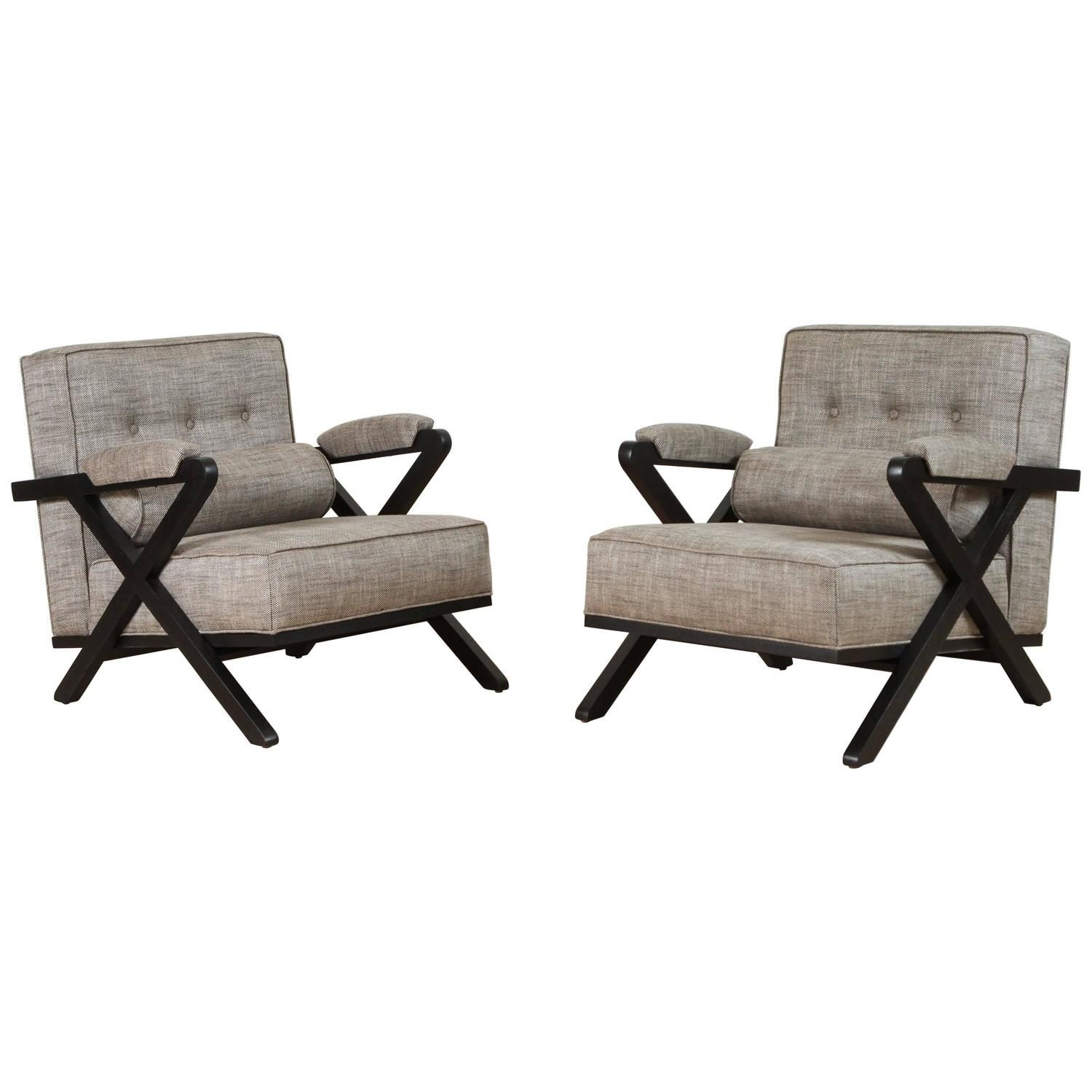 Pair of dillon chairs in ebonized oak by lawsonfenning my stdibs