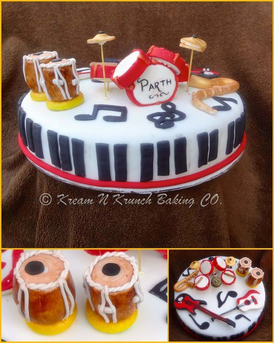 Musical Instruments Cake