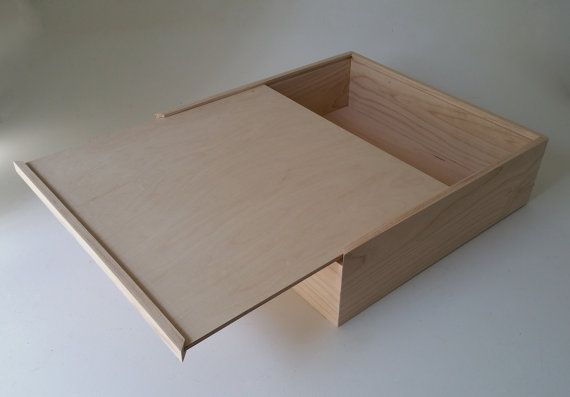 13x 13x 6 Pie Box Wooden Box Pie Style Sliding Lid Housewarming Gift Pie Cake Carrier All Maple and Unfinished.
