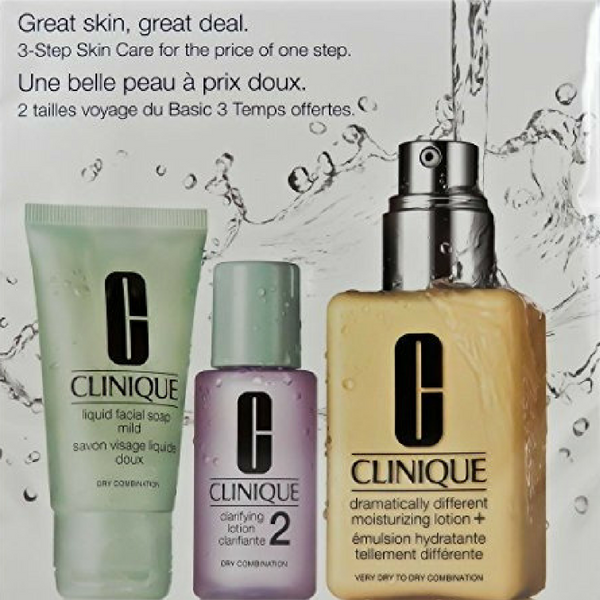 Clinique 3 Piece 3 Step Skin Care Introduction Kit For Unisex Dry Combination Skin Type Clinique Combination Skin Type Combination Oily Skin Skin Care Cream