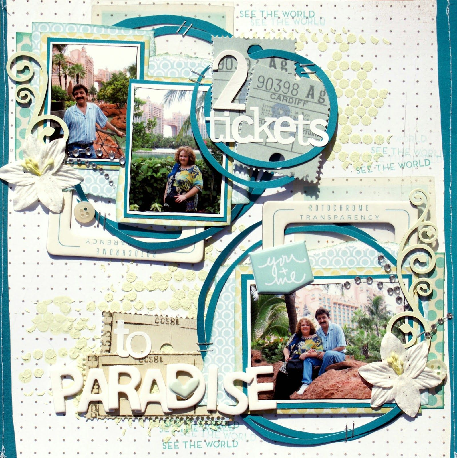 Little Scraps of Magic: Two Tickets to Paradise {CSI Case File No. 112}