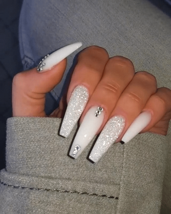 110 Awesome Marble Coffin Nail Designs 12 Telorecipe212 Com Birthdaynails 110 Aweso Best Acrylic Nails Nails Design With Rhinestones White Acrylic Nails